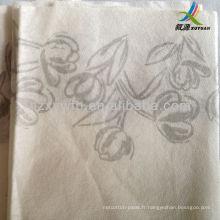 serviette de table airlaid - imprimé