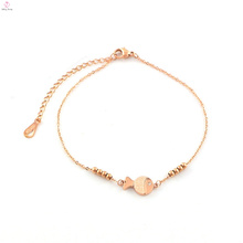 Bracelet de poisson plaqué or mignon en acier inoxydable charme