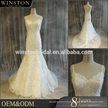 A China fornece todos os tipos de vestidos de noiva com acentos marrons