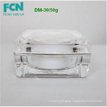 Fashionable cosmetic clear acrylic cap body shop 10ml cream jar plastic 50 ml taiwan