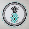 pineapple pattern customized print wholesale popular Round Beach Towel RBT-177