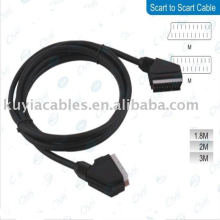 5 Ft 1.5m Scart to Scart Cable M/M For DVD TV black