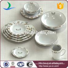 China fabricante de exportación 10 piezas de cerámica cena cubiertos conjunto