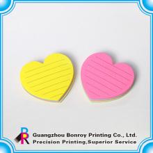 O fornecedor chinês ouve a forma mini blocos de notas personalizados que imprimem para vendas maioria