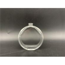 Botella de vidrio redonda de 50 ml para perfumería y cosmética.
