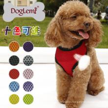 10 colores de malla suave y cómodo malla perro mascota arnés perro con correa