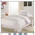 Tejido de satén de algodón de alta calidad 300TC White Custom Hotel Bedding