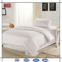 High Quality Cotton Sateen Fabric 300TC White Custom Royal Hotel Bedding