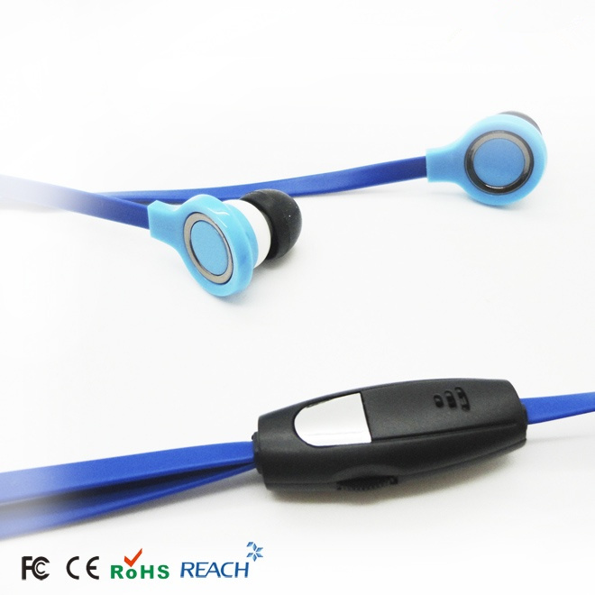 wire earphone with obalte wire