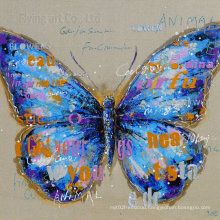 Acrylic Furniture Oil Painting with Butterfly for Wall Decoration