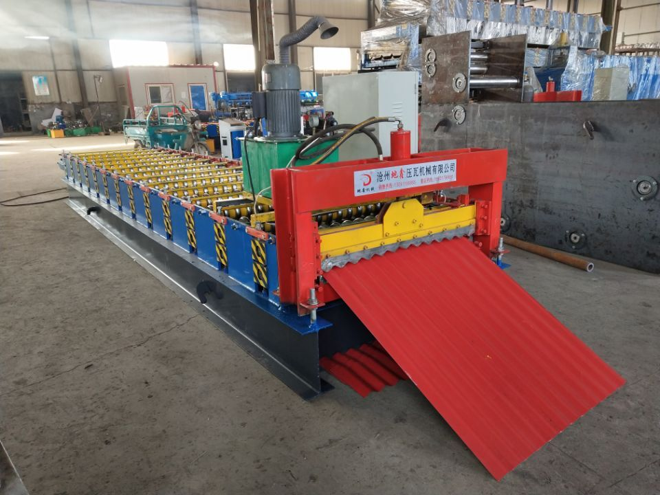 corrugated roof panel construction building machinery