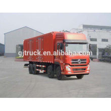 Dongfeng brand 8X4 drive van truck for 20-48 cubic meter