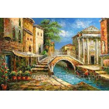 Decoração da arte da parede Pintura a óleo impressionista de Veneza (EVN-084)