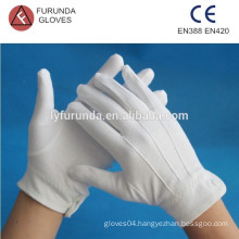 white TC inspeciton working gloves, white cotton lisle gloves, white nylon gloves