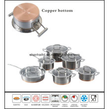 Kitchenware Stainless Steel Cookware Impact Copper Base