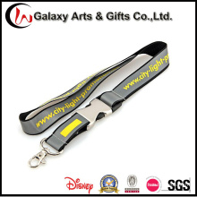 Newly Design Polyester Refelective Lanyard with Metal Buckle