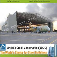 Hangar léger d'avion de structure encadrée par structure en acier légère