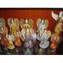 Decoración del hogar de los ángeles de cerámica