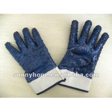 Перчатки с нитриловым покрытием, защитная манжета, с фишками