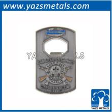 Metal embossed logo cartão de crédito abridor de garrafas