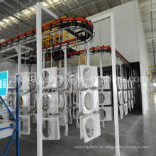 Maquinaria automática de recubrimiento en polvo para aire acondicionado