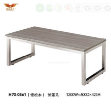 Steel Frame Office Wooden Furniture Square Coffee Table (H70-0561)