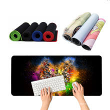 Gaming mouse pads with custom logo printed big mousepad xxl water resistance natural rubber base computer desk blank mousepad