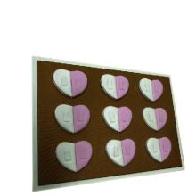 Weiß und rosa Leder Herzform Tisch Ring Tray Design (TY-18R-HTD)