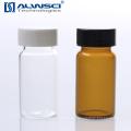 Cromatografía líquida de gases frasco de vidrio de almacenamiento ámbar 20 ml