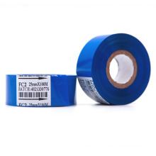 Good quality FC2 blue color customizable size 25mm*100m hot coding ribbon date code printing foil