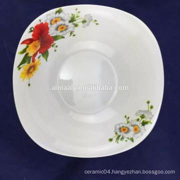 8 inch fine porcelain salad bowl square shape