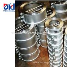 Bola residencial de plomería Función de válvula de control de oscilación de oblea de doble placa de acero inoxidable con elevación de 4 pulgadas