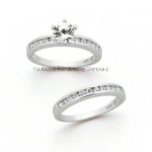 Sterling Silver Jewelry Fashion Couple Ring (R7052)