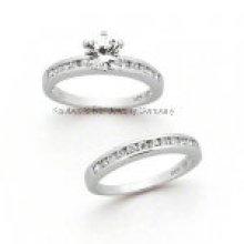 Prata esterlina jóias anel de casal de moda (R7052)