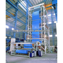AX-1200 trois couche PVA film machine de soufflage pe soufflé PVA film extrusion machine plastique granules / granules extrudeuse
