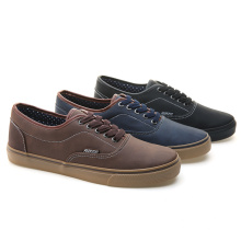 2017 New Arrival Canvas Casual Vulcanized Men Canvasshoes PU Leather Shoes