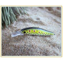 MNL025 7.5CM, 3G, Señuelo de la pesca dura de Minnow Sea Bass Orgy