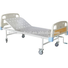 single crank hospital bed with perforated cold rolled sheet bed board
