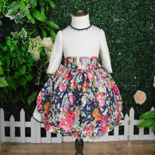 JannyBB desain baru dicetak pakaian gadis apron