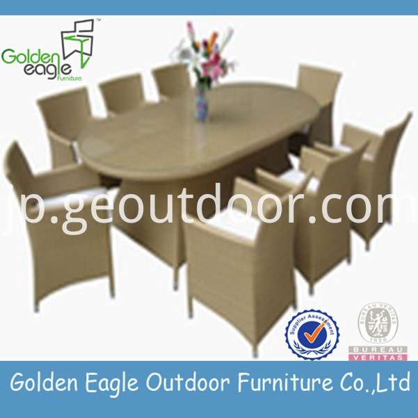 Rattan dining set furniture