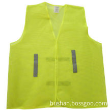 Safety Vest, Made of 100% Polyester Tricot Fabric