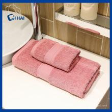 Toalha de hotel de algodão puro rosa (qhs99832)