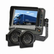 Lift Safety Backup Camera System with 3AV Inputs Digital Monitor and Double Eyeball Camera