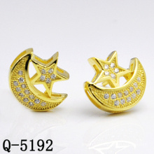 Factory Hot-Selling Designs Star Silver Earring Stud (Q-5192)