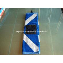 100% Baumwolle Jacquard Golf Handtuch mit Tasche (SST1015)