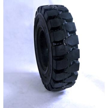 Roda de borracha de 10 polegadas com pneu sólido para empilhadeira de 6,5-10