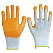 Хлопок ладони рабочие перчатки с резиновым покрытием