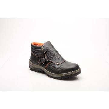 Estilo casual dividir couro gravado & PU sapatas de segurança (HQ01052)