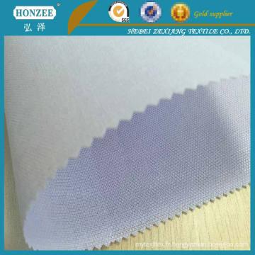 Tissu de vêtement utilisé pour collier pour chemise