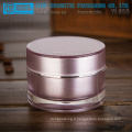 YJ-A50 50g 1er grade pmma matériel clair bonne qualité double couches normal pot acrylique